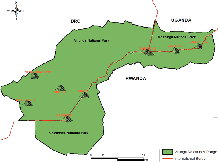 Virunga Mountains Map